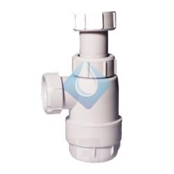 "Sifón botella extensible / Salida horizontal sin válvula. 1 1/2"" Ø  40mm"