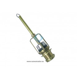 Descarga tradicional metálica para cisterna alta
