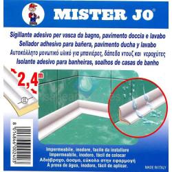 Cinta sellador adhesivo para bañeras, pavimento ducha y lavabo