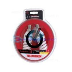 Bombilla Espiral Telefunken Compacta 11 E14 bajo consumo 2 unidades blister