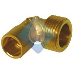 Racord latón rosca izquierda 21,8 y soldar tubo a 15 mm.