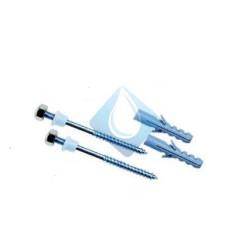 Tornillo Sujeción inferior M 5 x 75 mm. Juego 2 tornillos completos. Vastago de inox y tuerca embellecedor inox.