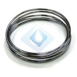 Tubo cobre gas cromado 10 Ø recocido