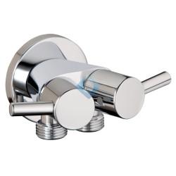 Griferia para ducha Higiénica con doble salida, cisterna y ducha