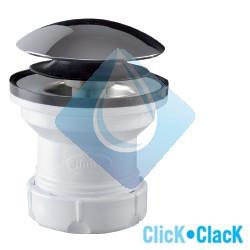 """Válvula lavabo/bidé con sistema de apertura Click-Clack en ABS cromo. Chapa de acero inoxidable Ø70. Medida 1 1/4"""" 11/4"""""""