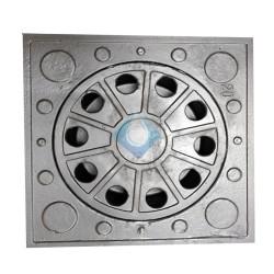 Sumidero sifónico aluminio para patios  250 x 250