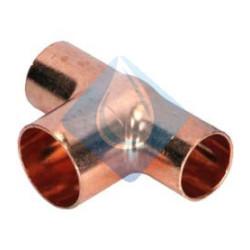 Te cobre reducida Ø 14-16-16  H-H-H 130 cu