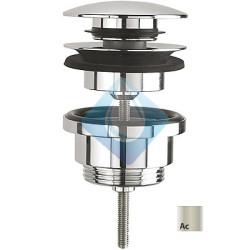 Valvula desague lavabo-bide Acero click clack Simple Rapid TRES