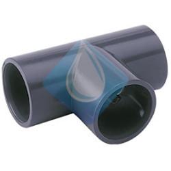 Te pvc Presión , indicado para tuberías de PVC presión. Tipo de unión pegado