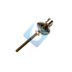 Espiga porta cadenas para lavabo o bidé cromo