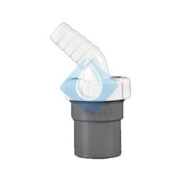 Enlace mixto macho PVC de 40 mm encolable con toma auxiliar de electrodomésticos. Toma electrodomésticos para encolar