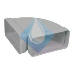 Codo rectangular Horizontal 90º 150 x 75 mm