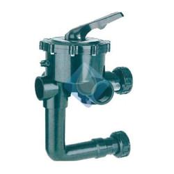 """Válvula selectora 2"""" de tornillo con enlace a filtro. Variante 3. Montada"""