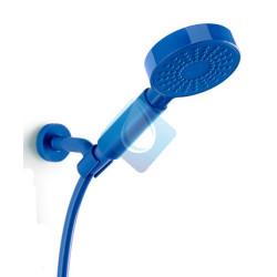 Kit ducha ONE 1 Jet mango + manguera flexo + soporte ducha azul blue