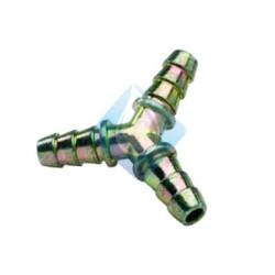 Te derivacion Y metal puntas goma butano GLP