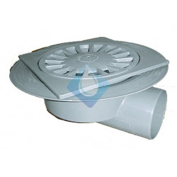 Caldereta sifónica 200 x 200 mm salida horizontal 110Ø pvc