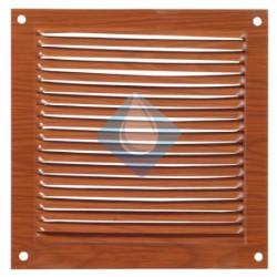 Rejilla color madera 150 x 150 mm ventilación Atornillar