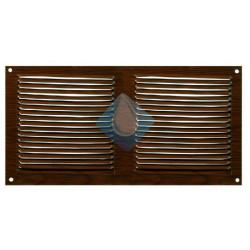 Rejilla color madera 300 x 150 mm ventilación Atornillar