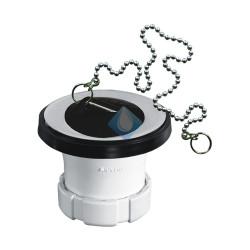 """Valvula desague lavabo con tapón y cadena Ø 32 (1 1/4"""" x 63) Riuvert"""