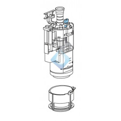 Mecanismo descarga Duplo Roca BASIC y TK (ant. 2015) AV0031300R