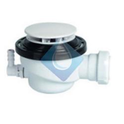 Desagüe sifónico inspeccionable para plato de ducha con toma condensación