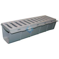 Rejillas de evacuación en PVC con canal para ensamblar Riuvert