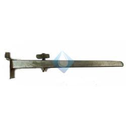 Soporte para lavabo Galvanizado L 340 mm Empotrar