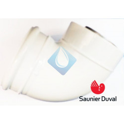Codo estanco 90º Ø 80/125 mm Saunier duval