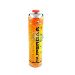 Botella gas 600 multigas para Soplete butano propano desechable con válvula de seguridad.