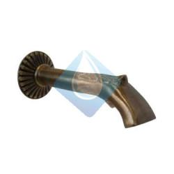 Caño Frontal bronce para fuente con boca Espatula