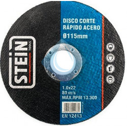 Disco corte Rapid.Acero  115 mm x 1 x 22,2