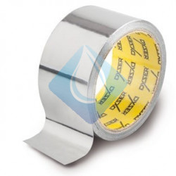 Cinta adhesiva de aluminio 50 mm ancho  X 5 Mts.