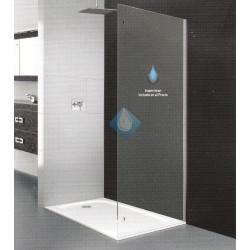 Mampara lateral ducha cristal seguridad con superclean