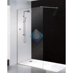 Mampara bañera 90 vidrio transparente 6 mm acabado cromo
