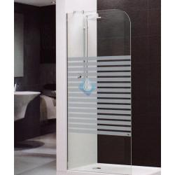 Mampara ducha 80 vidrio transparente 6 mm acabado cromo