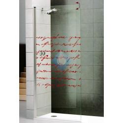 Mampara ducha 85 abatible 180º  vidrio transparente 6 mm acabado cromo