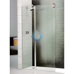 Mampara ducha 105 Fijo + abatible  vidrio transparente 6/6 mm acabado cromo