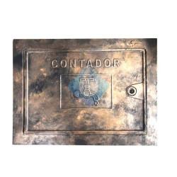 Puerta contador aluminio acabado bronce con grifo simbolo - Simbolo de aluminio ...