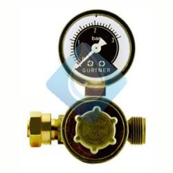 Regulador depositos moviles 8Kg/h 21.8 iz  Caudal 8 Kg/h Presión de salida: 0 a 3  bar Conexión soldar: T 21.8 iz x M20/150