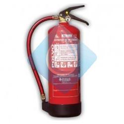 Extintor portatil de 6 Kgs. polvo ABC. Eficacia 27A-183B.