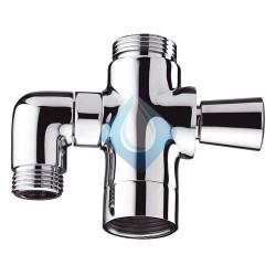 Inversor ducha caño simple ajustable Clever
