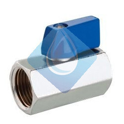 "Valvula Mini 1/2"" HH Mando Azul"