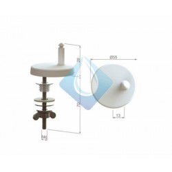 Bisagra Clipp.Off Nylon Regulable. Tornillo Metálico