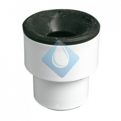 Manguito unión tubo metálico macho con junta SBR 40-28/35