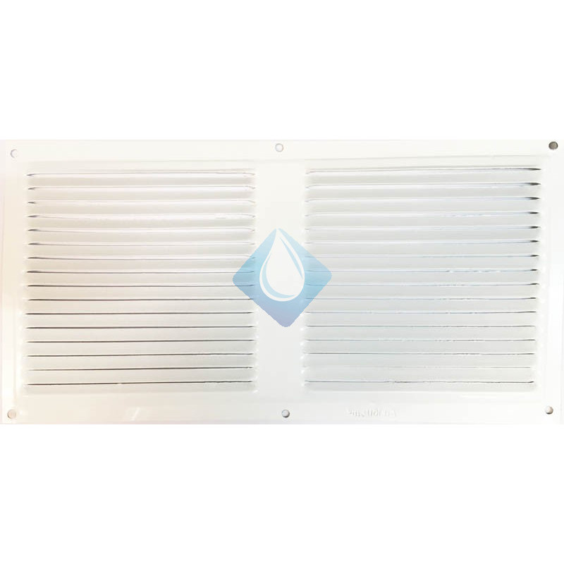 Rejilla blanca 300 x 150 mm ventilación Atornillar