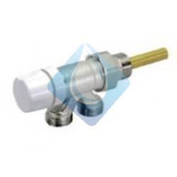 Válvula monotuboTermostatica cromada a 4 vías, simple reglaje, manual horizontal