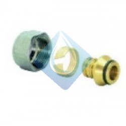 Racor 3 piezas conexión tubo polietileno reticulado