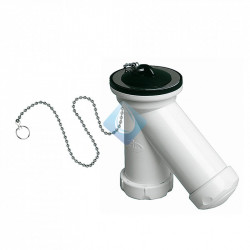 Sifón compacto tipo ''Y'' con válvula, tapón y cadena jimten lavabo bide