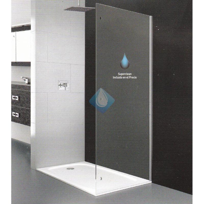 Mamparas De Ducha De 70.Mampara Ducha Cristal Seguridad 68 70 Cm Lateral Fijo Con Superclean